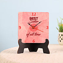 Best Sister Table Clock: Return Gifts for Sister