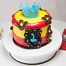 Blue Crown Cake: Send Mango Cakes to Gurgaon
