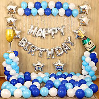 Blue Happy Birthday Décor: All Decoration Services