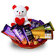 Branded Chocolate Basket: Send Soft toys to Thane