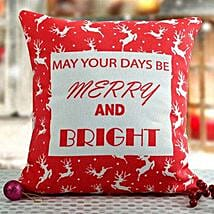Bright Christmas Cushion: Send Christmas Gifts For Girlfriend