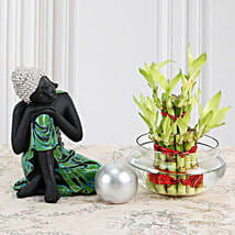 Buddha With Lucky Bamboo: