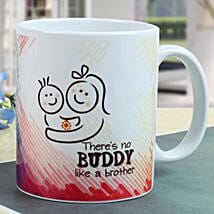 Buddy Brother Mug: Rakhi Gifts to Shahjahanpur