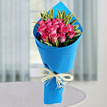 Bunch of Pink Roses: Womens Day Gifts for Girlfriend