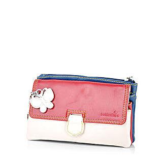 Butterflies Trendy Multicolor Clutch: Buy Handbags