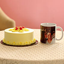 Butterscotch Cake & Personalised Mug For Mom: Mothers Day Personalised Gifts