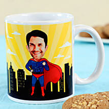 Caricature Personalised Superman Mug: Personalised Mugs