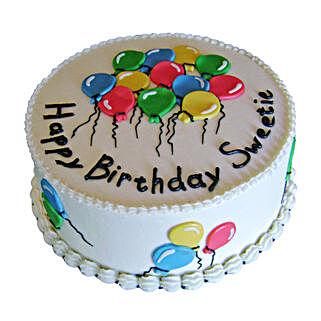 Charm of Balloons Cake: Designer Cakes for Birthday
