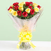 Charming Bouquet Of Red & Yellow Roses: Birthday Flowers for Father