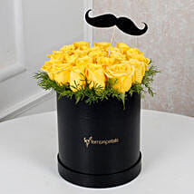 Cheerful Yellow Roses For Him: Flower Arrangements