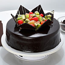 Chocolate Fruit Gateau: Eggless Cakes for Anniversary