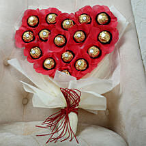 Chocolate Heart Bouquet: Gifts for Chocolate Day