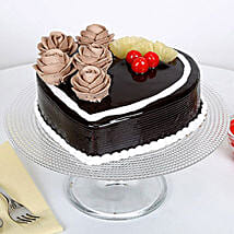 Chocolate Heart Cake: Designer Cakes Gurgaon
