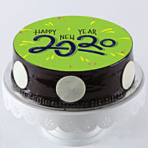 Chocolate Photo Cake For New Year: New Year Cake