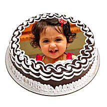Chocolate Photo Cake: Birthday Cakes to Kochi