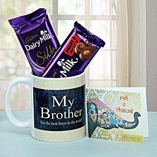 Chocolate Treat For Brother: Bhai Dooj Gifts Srinagar
