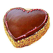 Chocolaty Heart Cake: Send Heart Shaped Cakes to Indore
