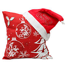 Christmas Cushion and Cap: Send Christmas Gifts For Girlfriend