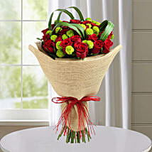 Classic Red Roses Hand Tied Bouquet: Flower Bouquets