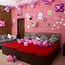 Colorful Balloons Decor Pink Purple & Silver: Balloons Decorations