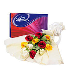 Colorful Celebration: Flowers & Chocolates for Him