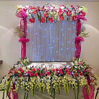 Colorful Floral Decoration: Devotional Decoration Services