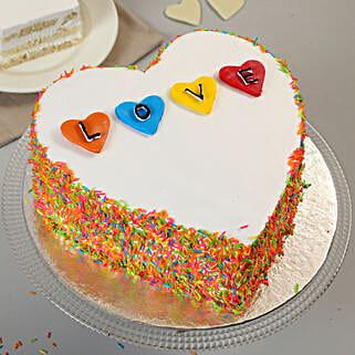 Colourful Love Cake: Wedding Cakes