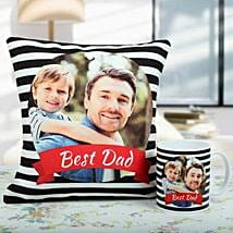 Comfortable Combo For Dad: Personalised Cushions for Fathers Day