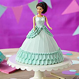 Cool Blue Barbie Cake: Cinderella Cakes