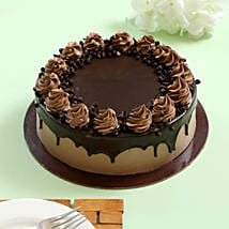 Cream Drop Chocolate Cake: Eggless Birthday Cake