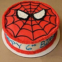 Creamy Spiderman Treat Cake: Cake Delivery in Thoppumpady