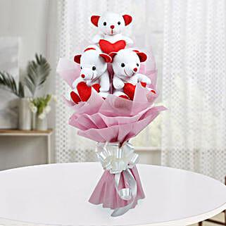 Cute Bouquet Of Teddy Bear: Send Soft Toys