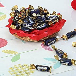 Cute Choco Basket: Send Valentines Day Gift Baskets
