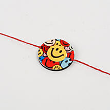 Cute Colorful Smiley Rakhi: Send Cartoon Rakhi
