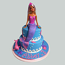Cute Mermaid Barbie Cake: