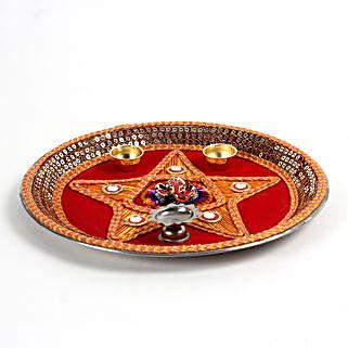 Decorative Steel Pooja Thali: Chhat Puja Gifts