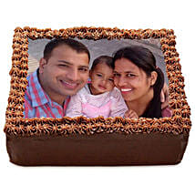 Delicious Chocolate Photo Cake: Anniversary Cakes for Wife