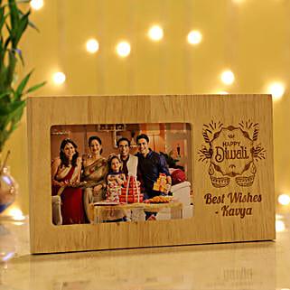 Diwali Personalised Photo Frame: Personalised Photo Frames for Husband