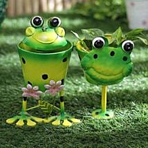 Dual Frog Planter: Pots for Plants