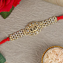 Ek Onkar American Diamond Chain Rakhi: Send Rakhi to Srikakulam