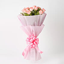 Elegance - Pink Roses Bouquet: Send Roses to Kolkata