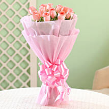 Elegance - Pink Roses Bouquet: Flowers for Anniversary