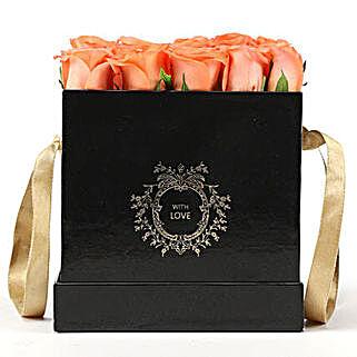 Elegant Box Of Orange Roses: