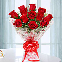 Emotions- Beautiful 12 Red Roses Bouquet: Send Wedding Gifts to Bengaluru