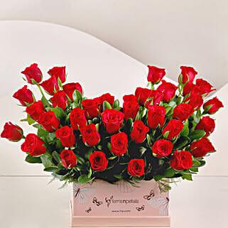 Ravishing 40 Red Roses Box Arrangement: Friendship Day Roses