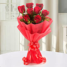 Enigmatic Red Roses Bouquet: Send Valentine Flowers to Varanasi