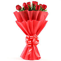 Enigmatic Red Roses Bouquet: Get Well Soon Flowers