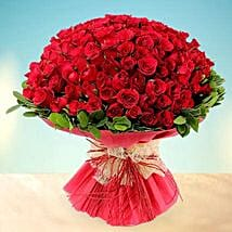 Treasured Love- 200 Red Roses Bouquet: Valentines Day Flowers