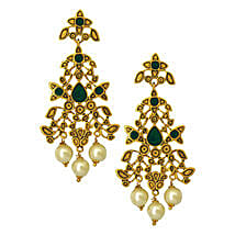 Estelle Gold Plated Earrings: Send Jewellery Gifts
