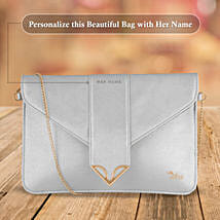 Fashionable White Sling Bag: Handbags and Wallets Gifts